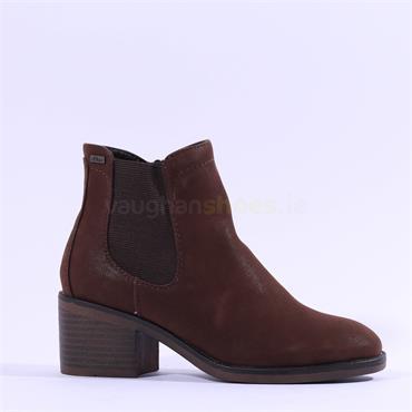 S.Oliver Kamilah Block Heel Chelsea Boot - Brown