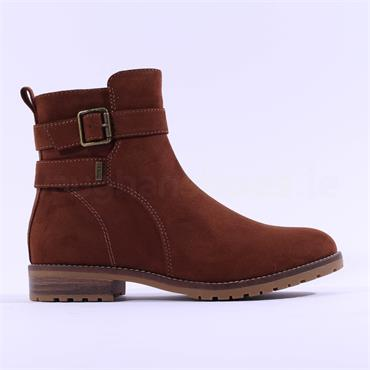 S.Oliver Phania Buckle Strap Ankle Boot - Cognac