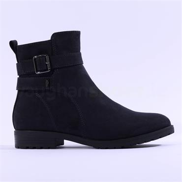 S.Oliver Phania Buckle Strap Ankle Boot - Navy