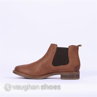 S. Oliver Low Boot Side Gusset - Cognac