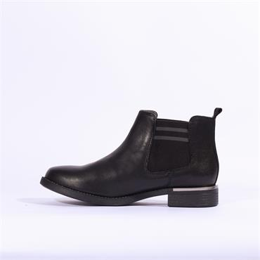 S.Oliver Ankle Boot With Side Gusset - Black