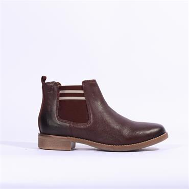 S.Oliver Ankle Boot With Side Gusset - Bordo