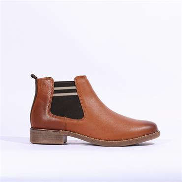 S.Oliver Ankle Boot With Side Gusset - Cognac