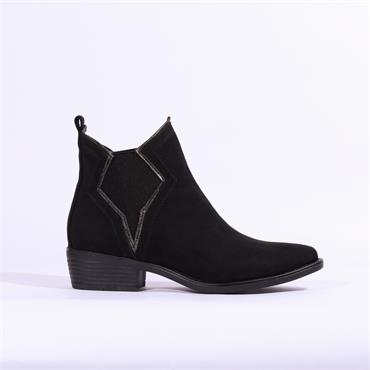 S.Oliver Ankle Boot With Detailed Gusset - Black