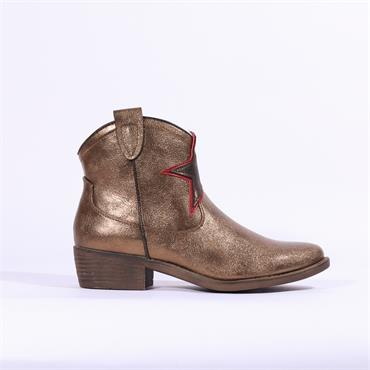 S.Oliver Cowboy Boot Star Detail - Gold