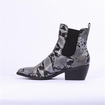 S.Oliver Western Ankle Boot With Gusset - Snake