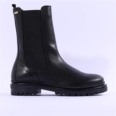 S.Oliver Megana High Gusset Ankle Boot - Black Leather