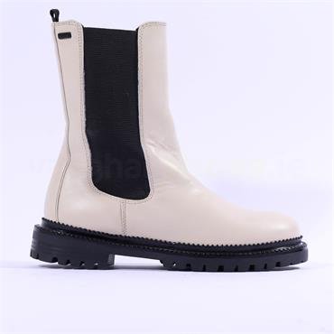 S.Oliver Megana High Gusset Ankle Boot - Off White Leather