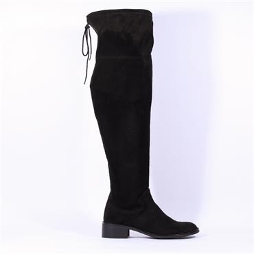S.Oliver Over The Knee Flat Boot - Black