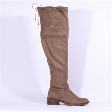 S.Oliver Over The Knee Flat Boot - Pepper