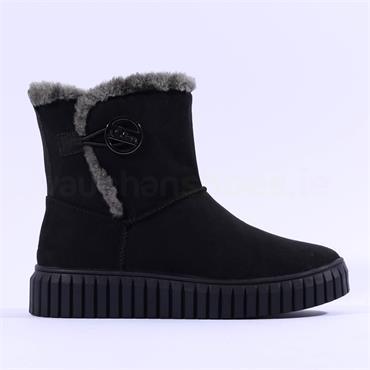 S.Oliver Unila Vegan Lined Platform Boot - Black