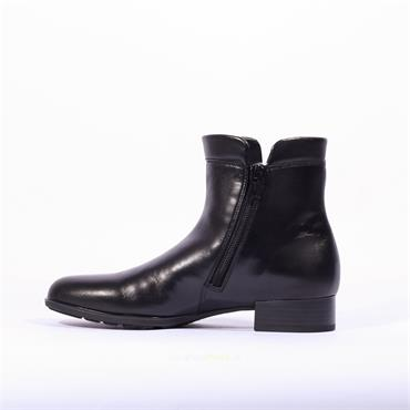 Gabor Flat Side Zip Gusset Boot Aperitif - Black Leather