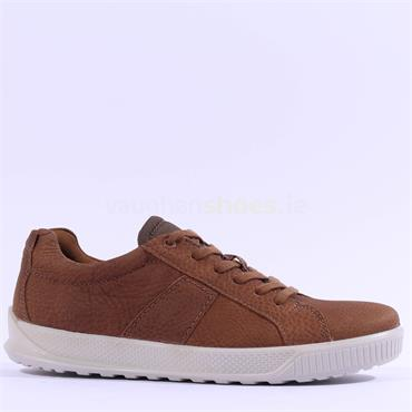 Ecco Men Byway Laced Shoe - Camel Leather