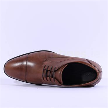 Ecco Men Citytray Laced Toecap Shoe - Amber Leather