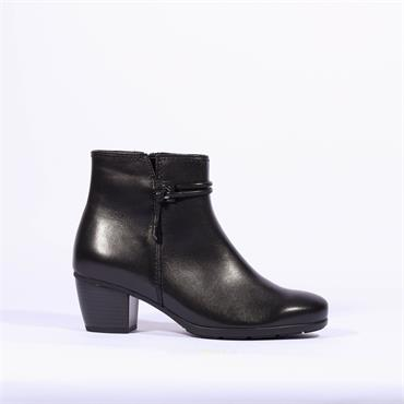 Gabor Ankle Boot String Detail Ela - Black Leather