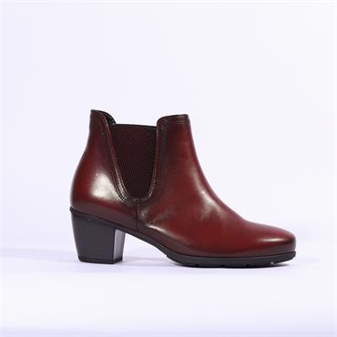 Gabor Ecological V Cut Gusset Ankle Boot - Dark Red