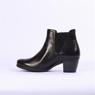 Gabor Ecological V Cut Gusset Ankle Boot - Black