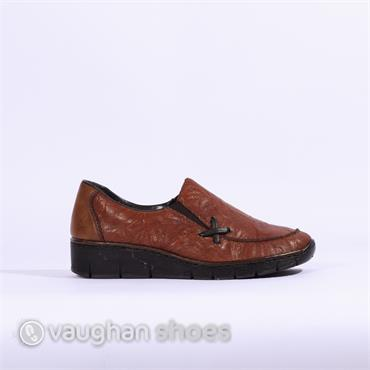 Rieker Slip-On With X Stitch Ottawa - Tan
