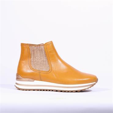 Gabor Platform Gusset Boot Ewan - Mustard Leather