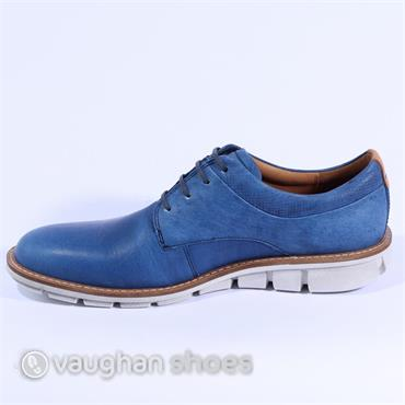Ecco Jeremy Wedge Shoe - Blue