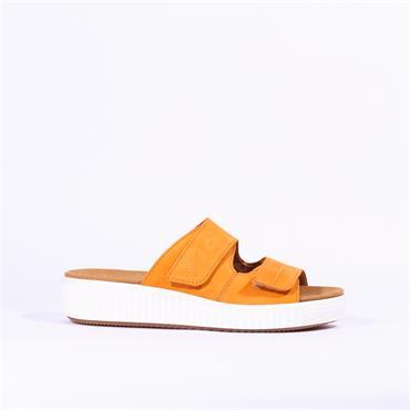 Gabor Velcro Strap Mule Sandal Misty - Mustard
