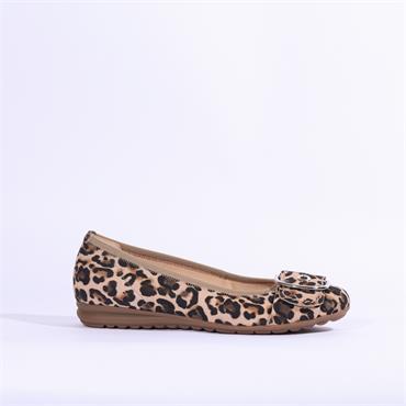Gabor Saviour Slip On Pomp Buckle Detail - Leopard Combi