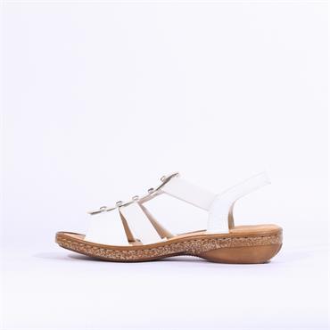 Rieker Elasticated Strappy Sandal - White