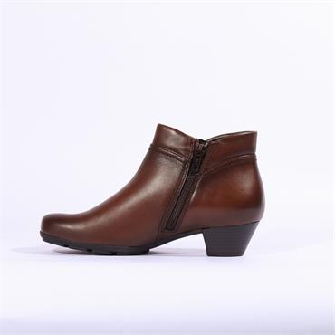 Gabor Boot Zip Fastening & False Zip - Tan