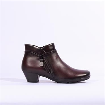Gabor Emila Ankle Boot With Side Zip - Wine