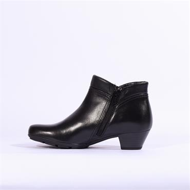 Gabor Boot Zip Fastening & False Zip - Black