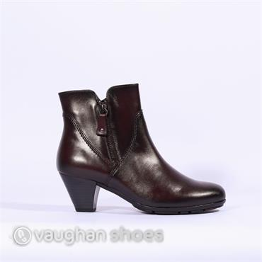 Gabor Ankle Boot With Side Zip Martineau - Wine