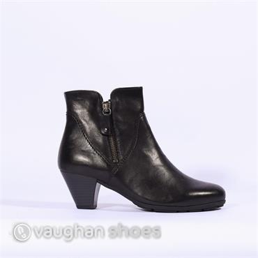 Gabor Ankle Boot With Side Zip Martineau - Black