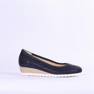 6f17a36478311 Gabor Low Wedge Espadrille Epworth - Navy ...