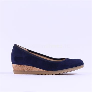 Gabor Low Comfort Wedge Epworth - Navy Suede