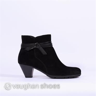 Gabor Boot With Bow Detail Tiffey - Black Suede