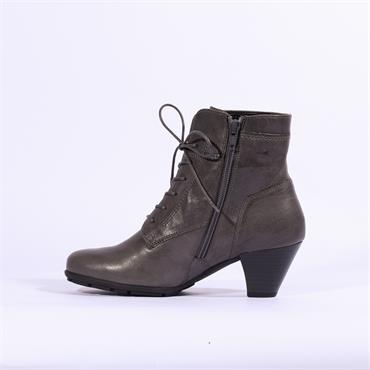 Gabor Lace Up With Side Zip NATIONAL - Dark Grey