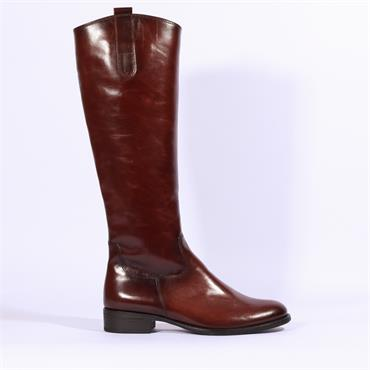 Gabor Brook Knee High Flat Boot - Brown