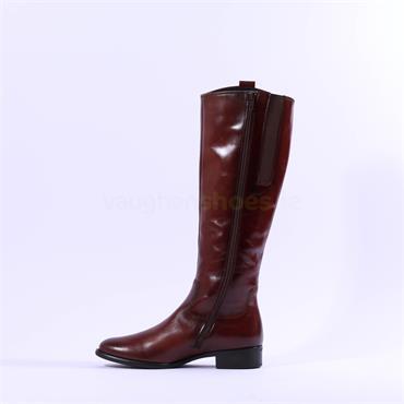 Gabor Brook Slim Calf Knee High Boot - Cognac Leather