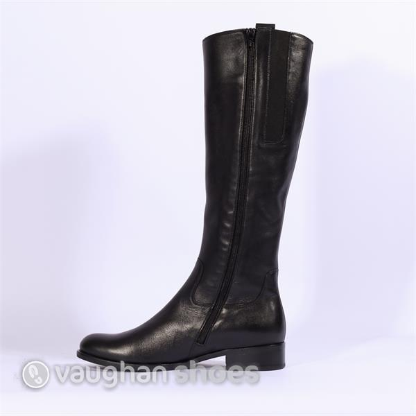 84da861a33e Gabor Brook Knee High Flat Boot - Black