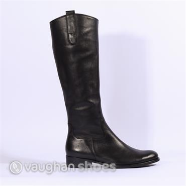 Gabor Brook Knee High Flat Boot - Black