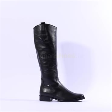 Gabor Brook Slim Calf Knee High Boot - Black Leather