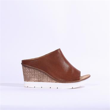 Rieker Cristallino Wedge Mule - Brown