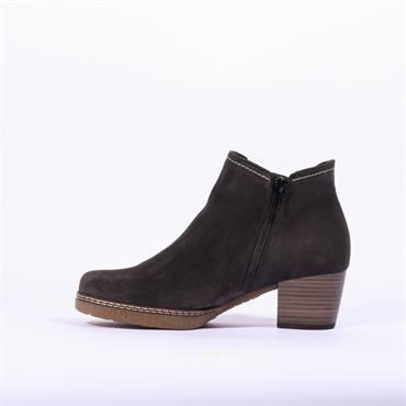 Gabor Heeled Boot With Side Gusset LILIA - Dark Grey Sde