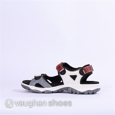 Rieker Comfort Sandal With 2 Velcro - Multi