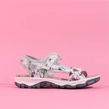 Rieker Comfort Sandal With V/C - Floral
