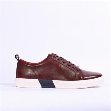 6th Sense DV1 Leather Trainer - Burgundy