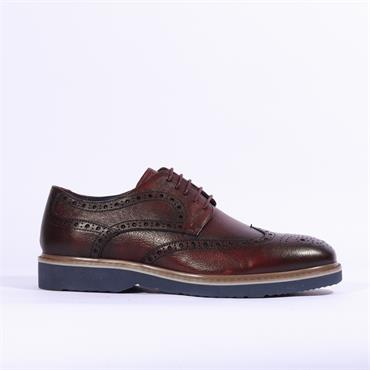 6th Sense Messi Casual Brogue - Wine