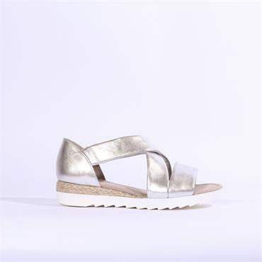 Gabor Strappy Sandal PROMISE - Silver