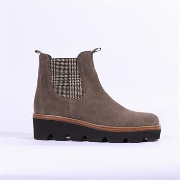Gabor Avon Platform Boot Pattern Gusset - Grey Combi