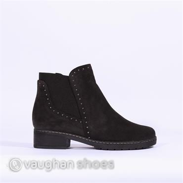 Gabor Boot With Stud And Gusset Malibu - Dark Grey Sde